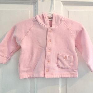 BABY GAP Pink Button-up Hoodie SIZE 6-12M
